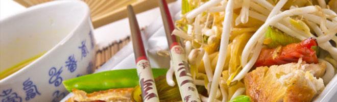   Thailändische Nudeln